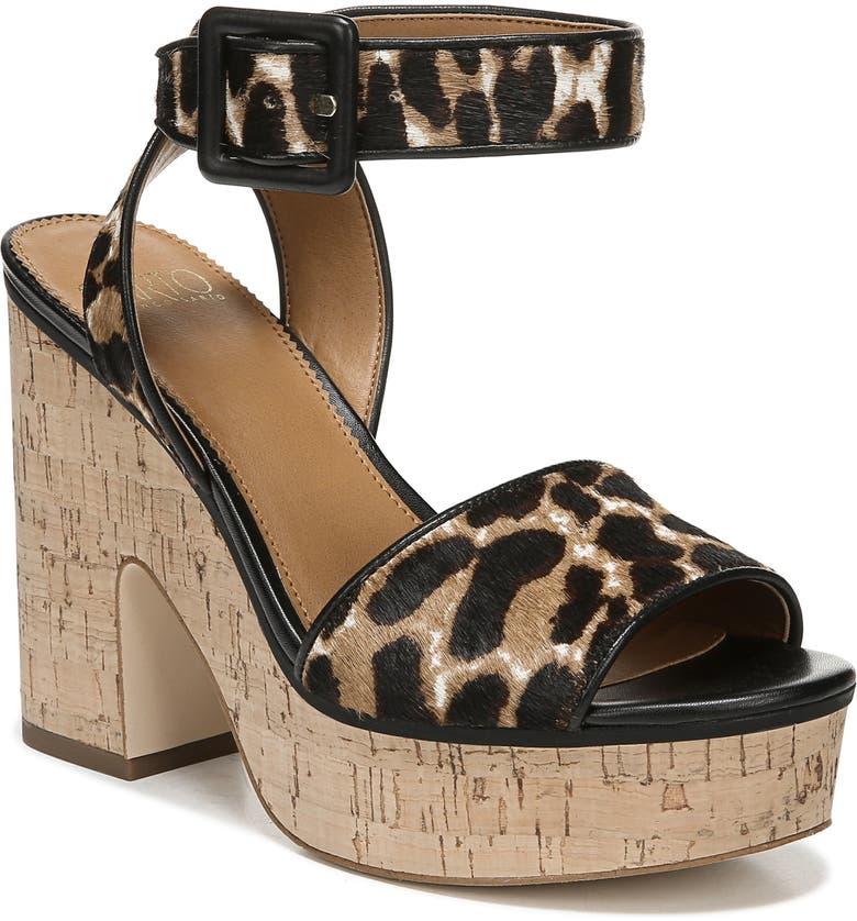 SARTO BY FRANCO SARTO Franny Platform Sandal, Main, color, BLACK CALF HAIR