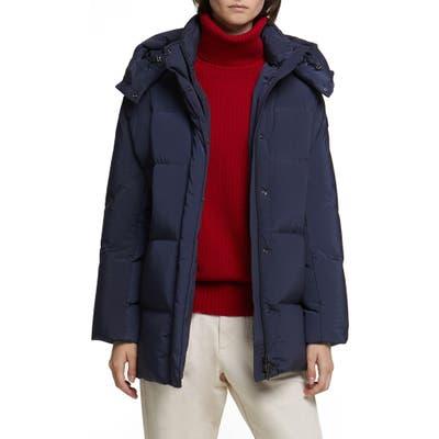 Woolrich Aurora Water Repellent Puffy Down Coat, Blue