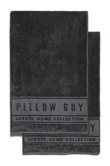 Image of Pillow Guy Oversized Bath Towels - Set of 2 - Charcoal