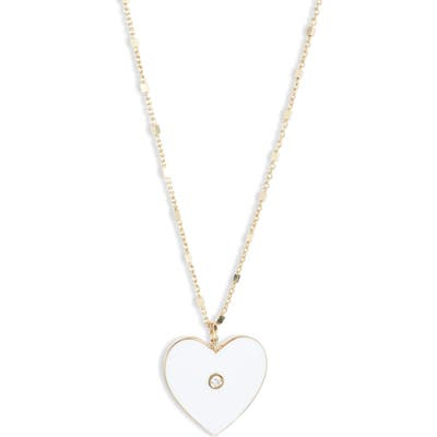 Jennifer Zeuner Fifi Diamond Heart Pendant Necklace