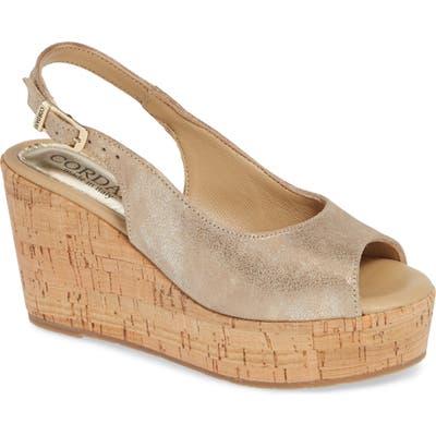 Cordani Janey Wedge Sandal, Metallic