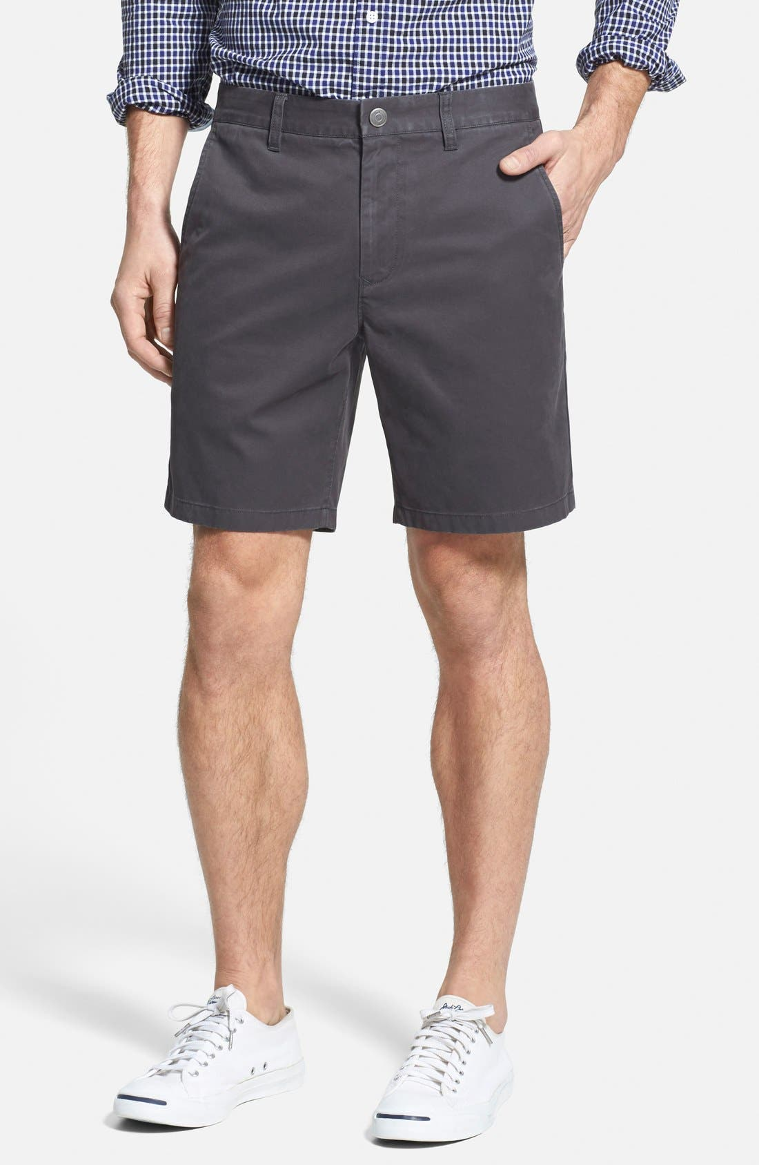 ,                             Washed Chino Shorts,                             Main thumbnail 1, color,                             001