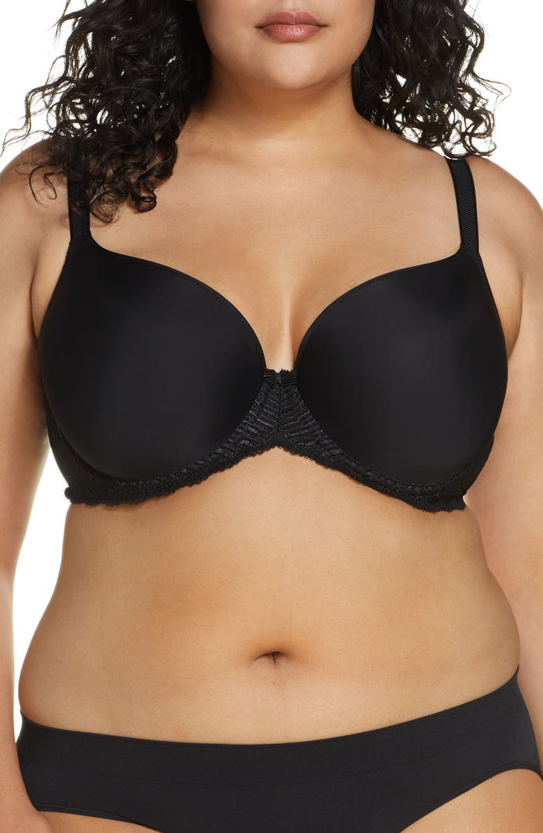 WACOAL La Femme Molded Underwire Bra, Main, color, BLACK