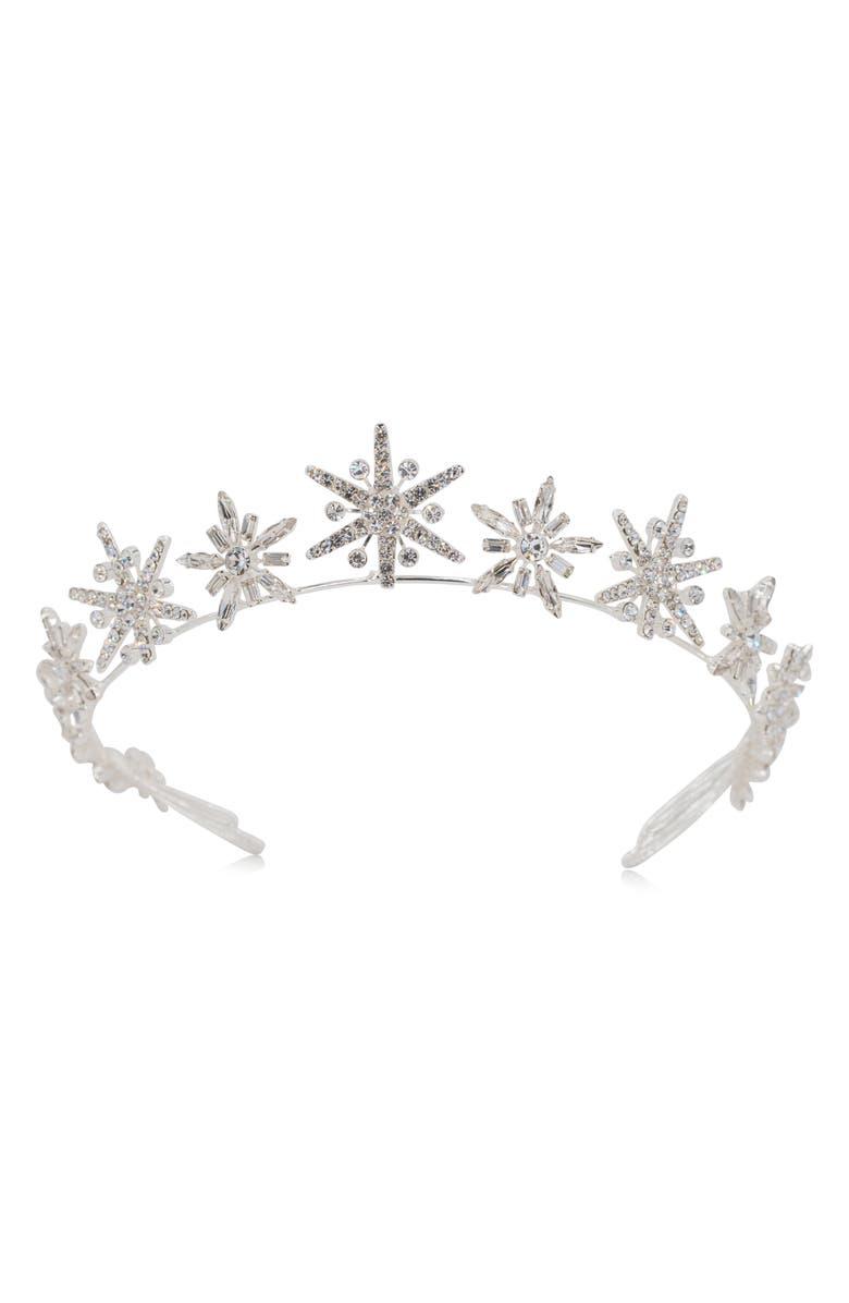 BRIDES & HAIRPINS Brinley Star Crown, Main, color, 040