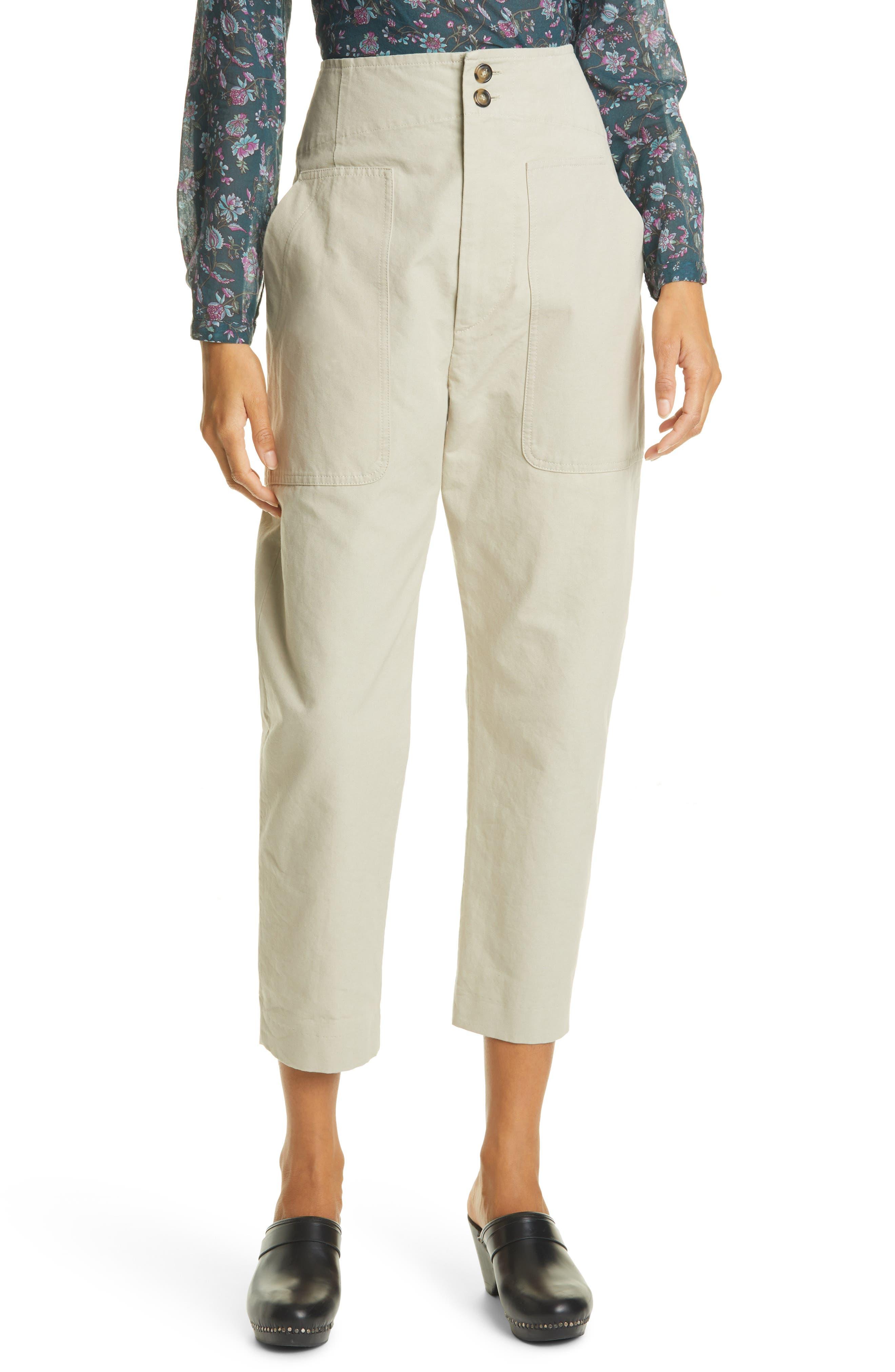 Women's Isabel Marant Etoile Pralunia Crop Cotton Trousers