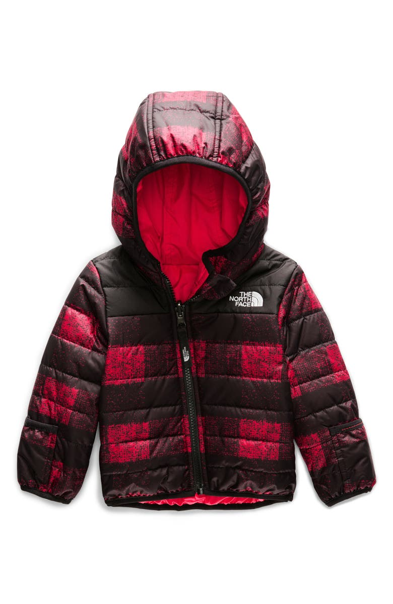 THE NORTH FACE Perrito Reversible Water Repellent Heatseaker<sup>™</sup> Insulated Jacket, Main, color, TNF RED MINI BUFF CHECK PRINT