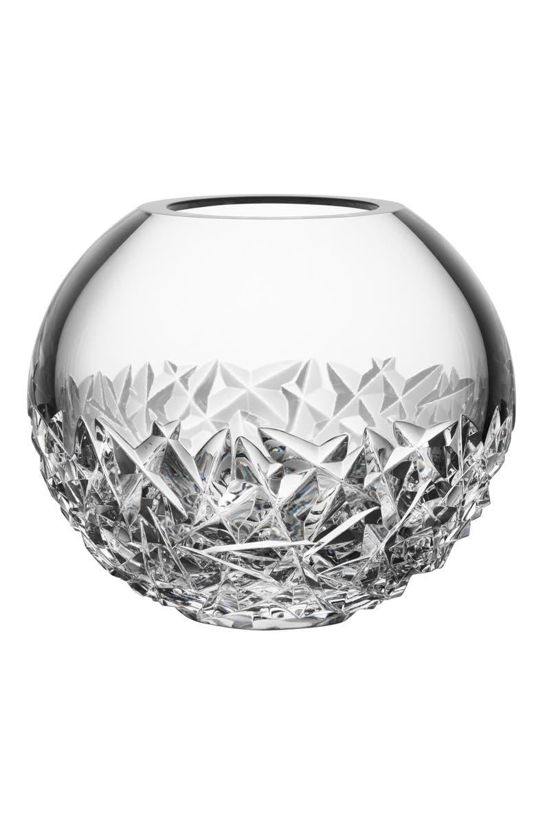 ORREFORS Carat Lead Crystal Globe Vase, Main, color, 100