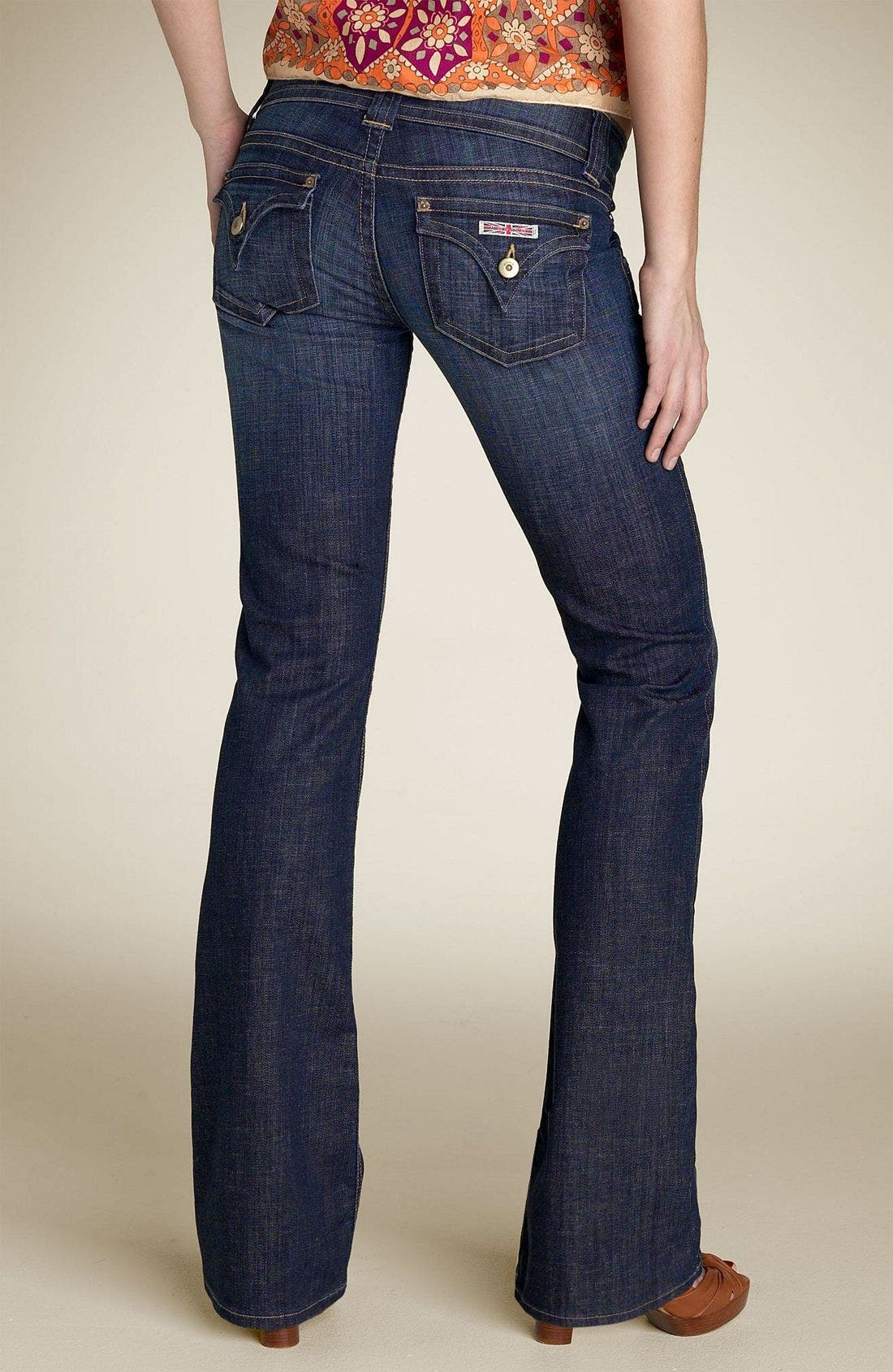 ,                             Signature Flap Pocket Bootcut Jeans,                             Alternate thumbnail 65, color,                             469