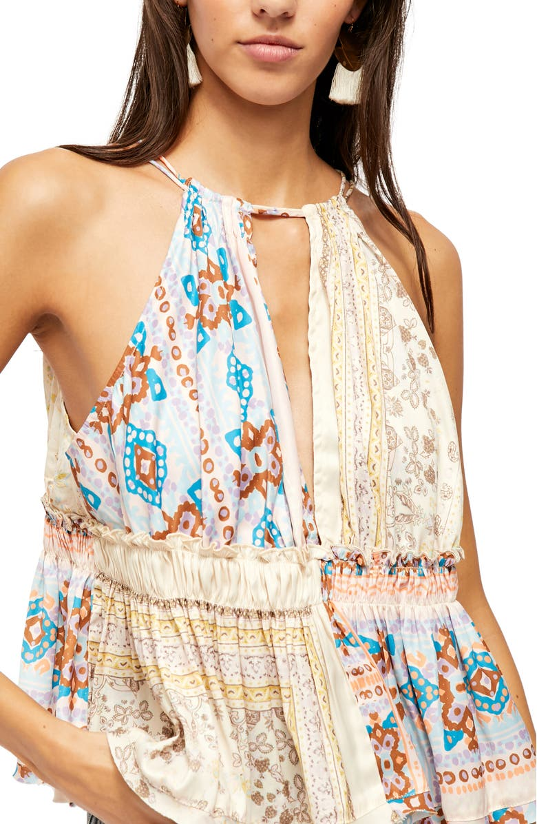 FREE PEOPLE Bellini Mix Print Tank, Main, color, IVORY COMBO