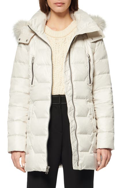 Image of Andrew Marc Pomona Faux Fur Trim Down Puffer Jacket