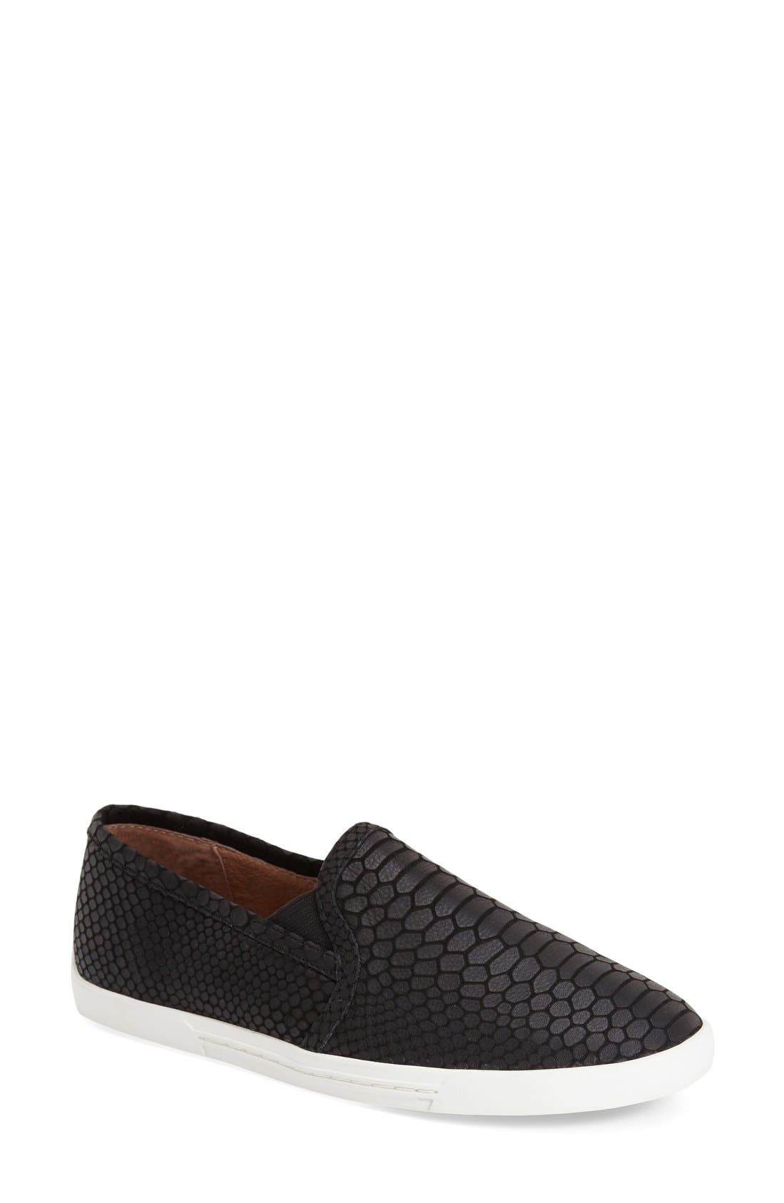 Image of Joie Kidmore Leather Snake Embossed Slip-On Sneaker