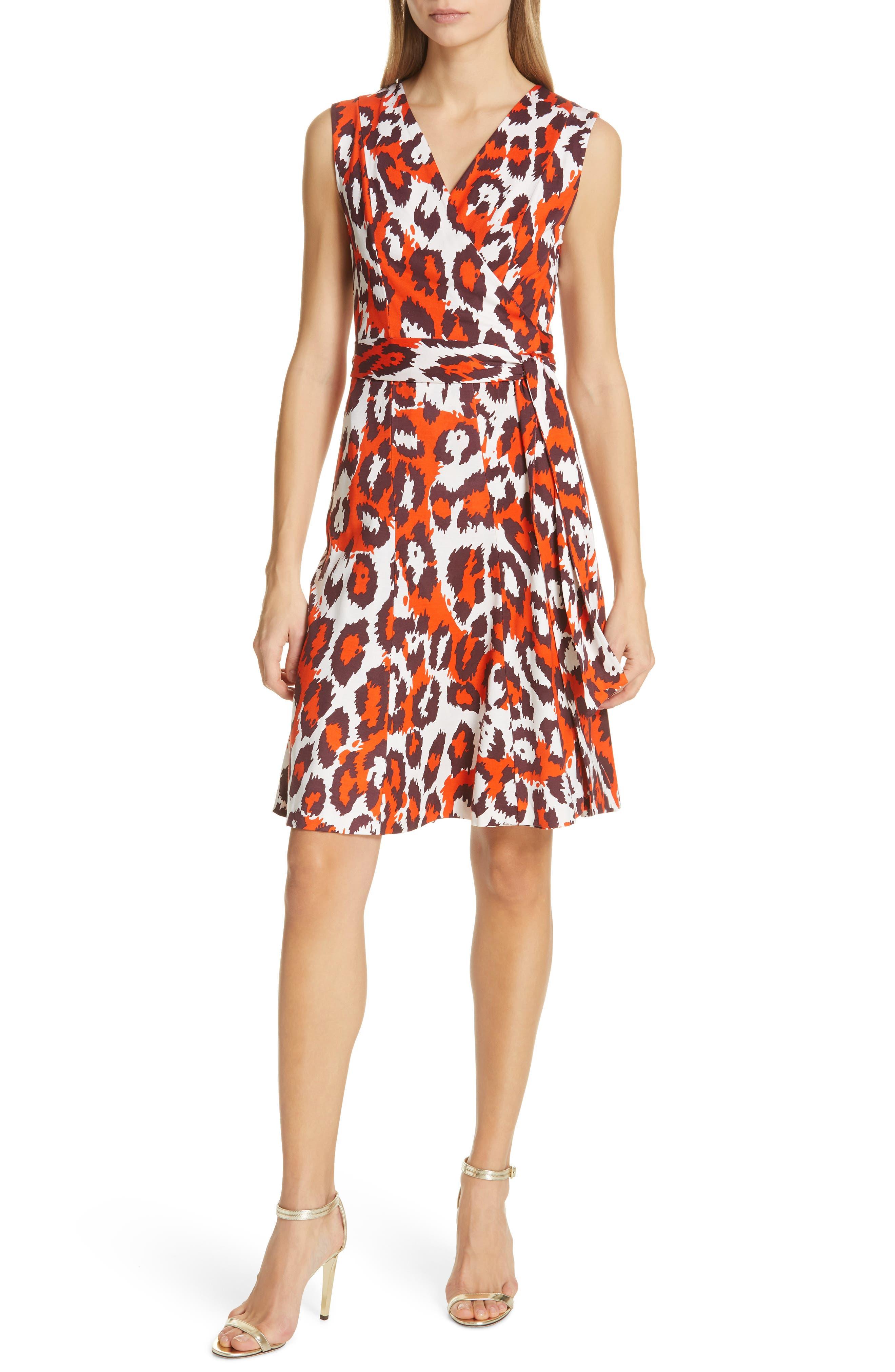 Dvf Jasmine Silk Wrap Dress, Orange