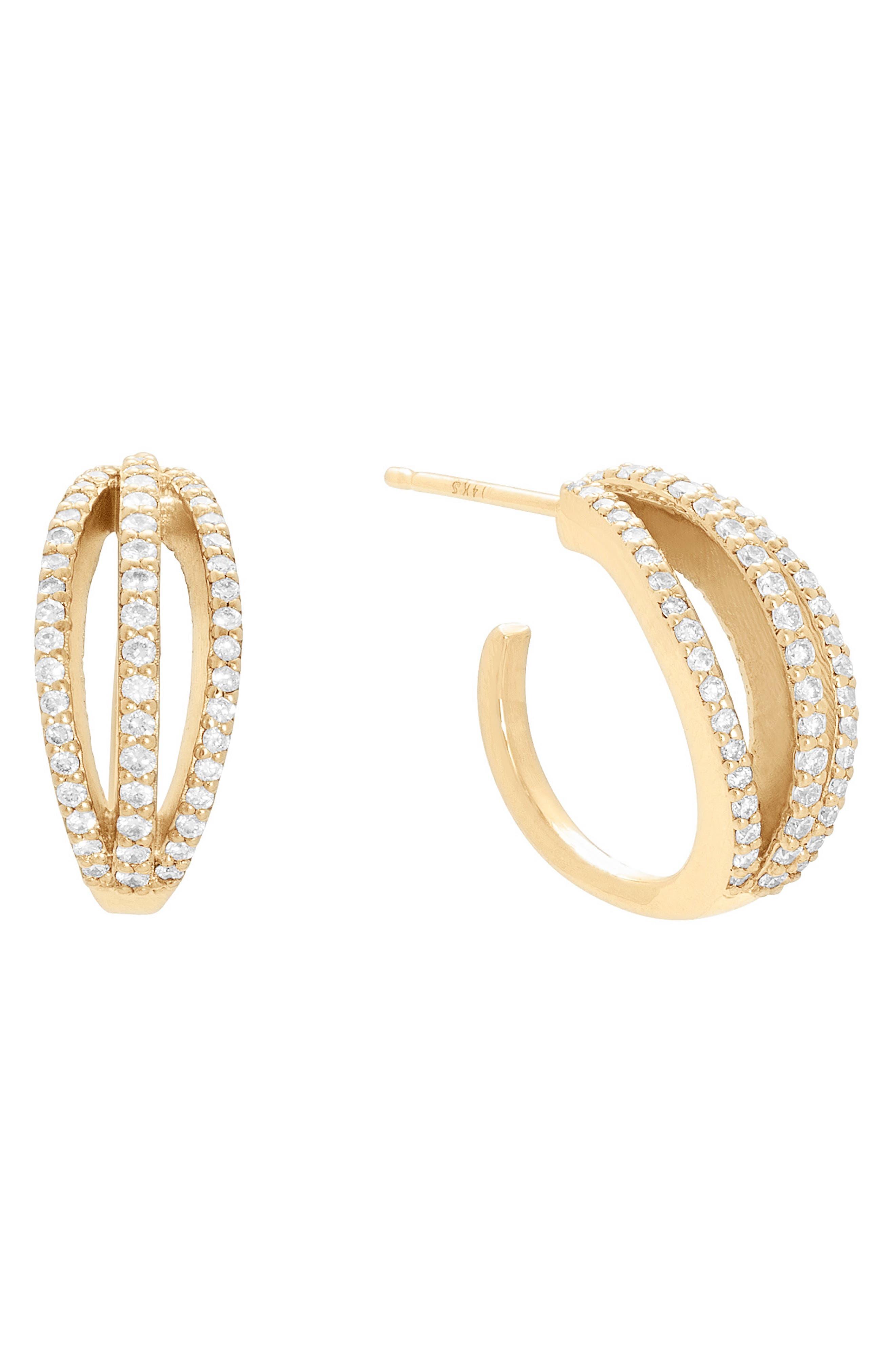 Legacy Crown Diamond Huggie Earrings