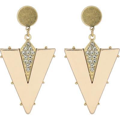 Panacea Triangle Drop Earrings