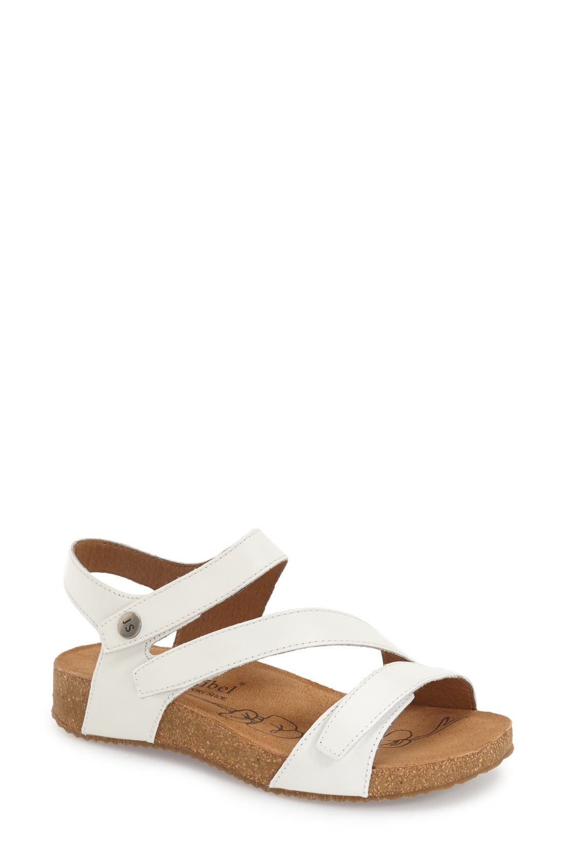 A trio of adjustable leather straps perfect the fit on a comfortable sandal shaped with a cushioned, anatomic footbed and supported by a springy cork platform. Style Name: Josef Seibel \\\'Tonga\\\' Leather Sandal (Women). Style Number: 865413. Available in stores.