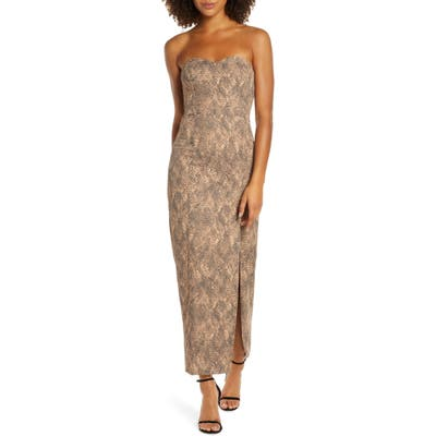Fame And Partners The Martina Strapless Dress, Beige