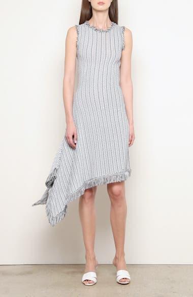 Herringbone Knit Asymmetrical Dress, video thumbnail