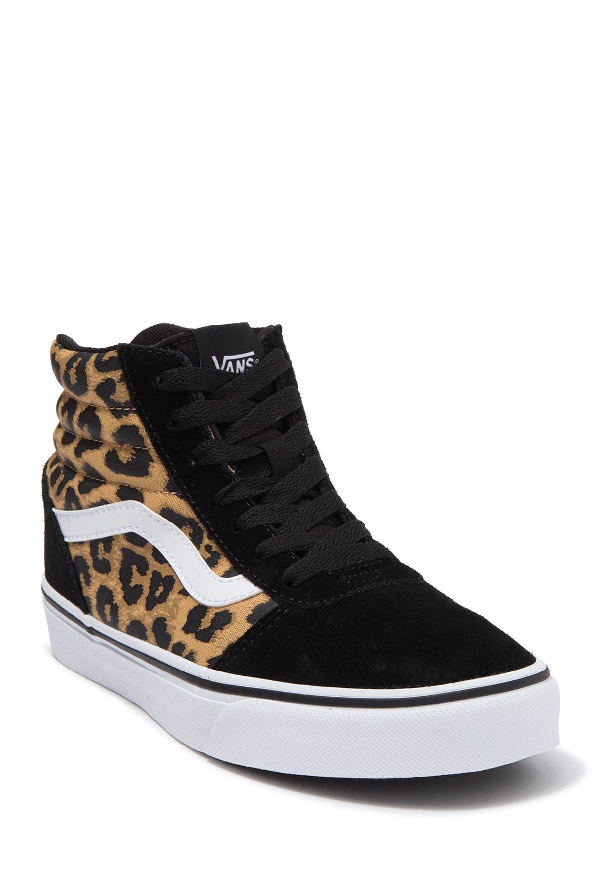 Ward Leopard Print High Top Sneaker