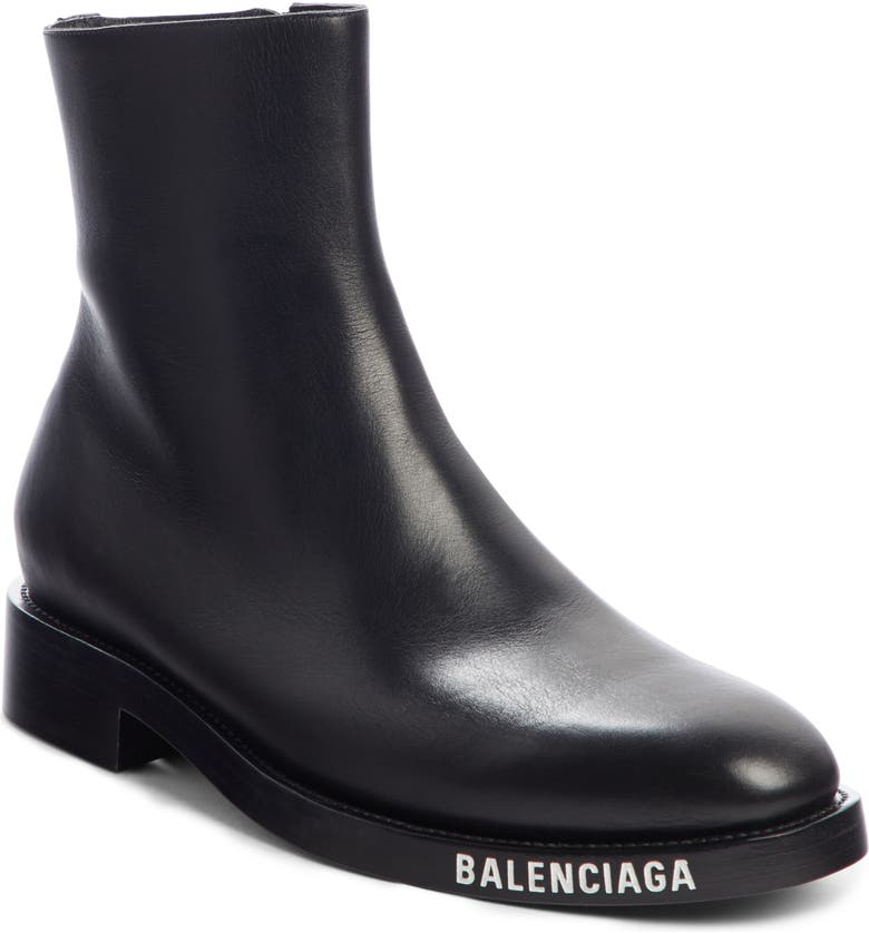 BALENCIAGA Zip Boot, Main, color, BLACK