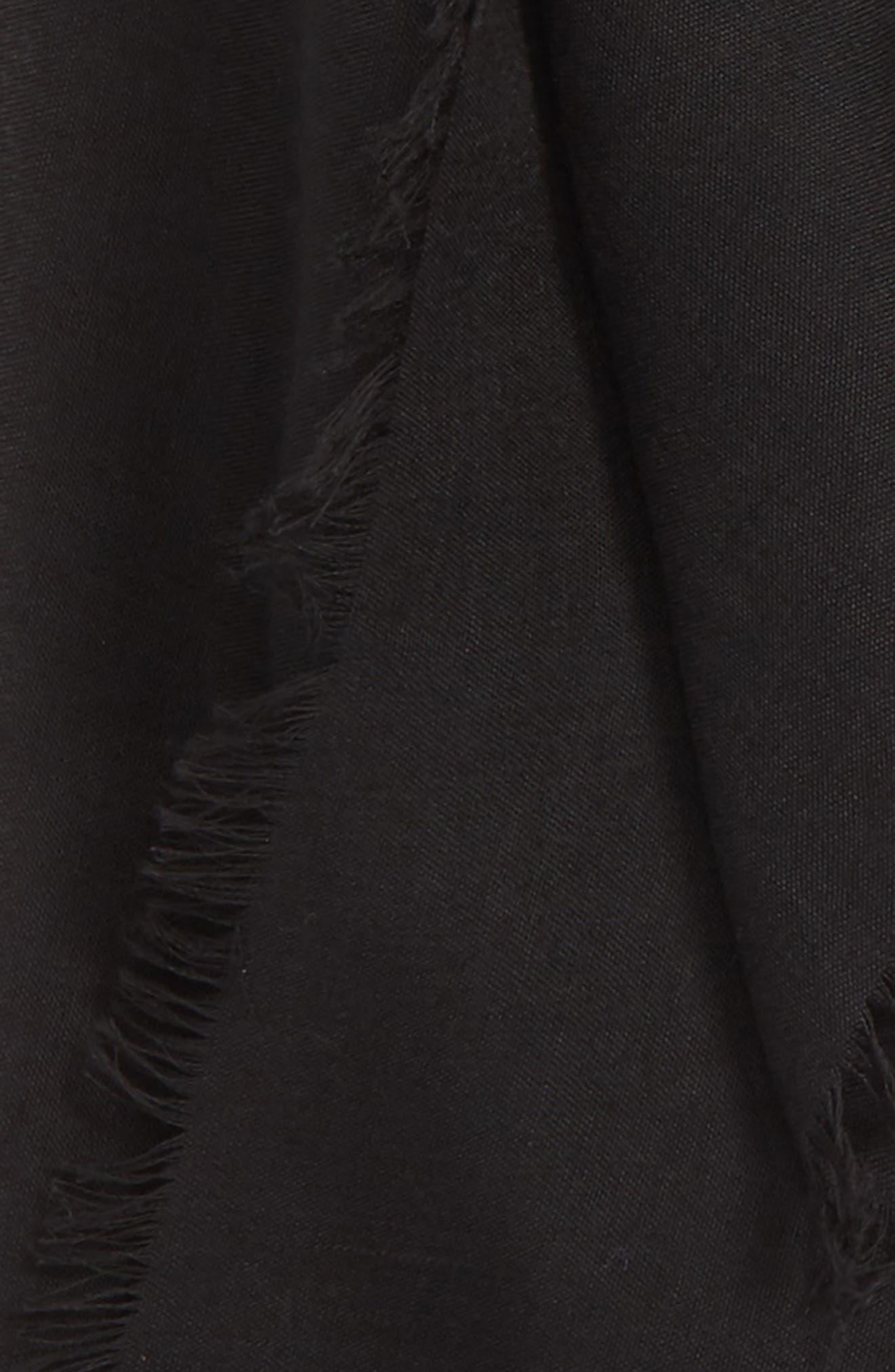 ,                             Lightweight Cotton Scarf,                             Alternate thumbnail 3, color,                             BLACK