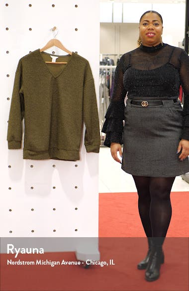 Faux Shearling Teddy Sweater, sales video thumbnail