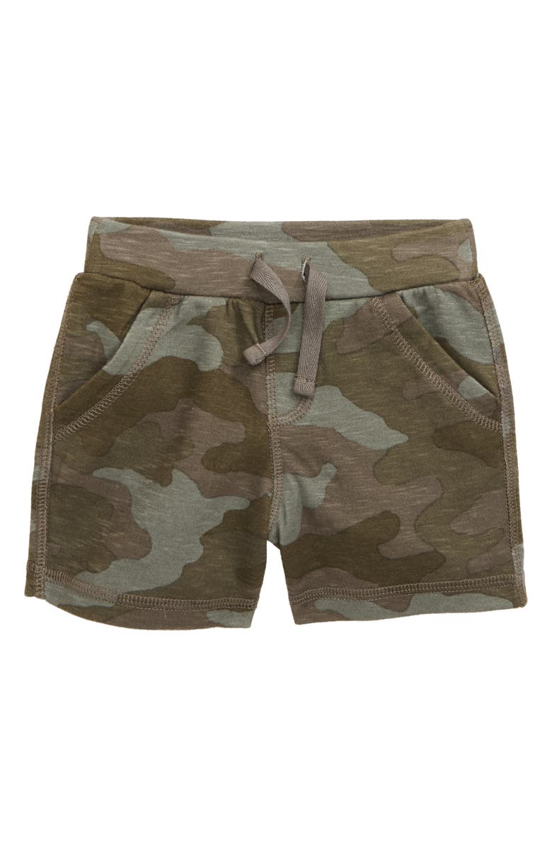 TUCKER + TATE Print Knit Shorts, Main, color, OLIVE BROWN CAMO