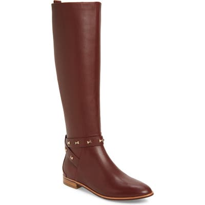 Ted Baker London Plannia Bow Hardware Knee High Riding Boot - Brown