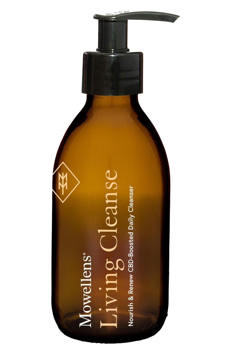 MOWELLENS Living Cleanse Nourish & Renew CBD-Boosted Daily Cleanser, Main, color, NO COLOR