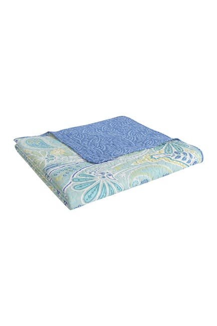 Image of VCNY HOME Harmony Reversible Blue Paisley Quilt Set - King
