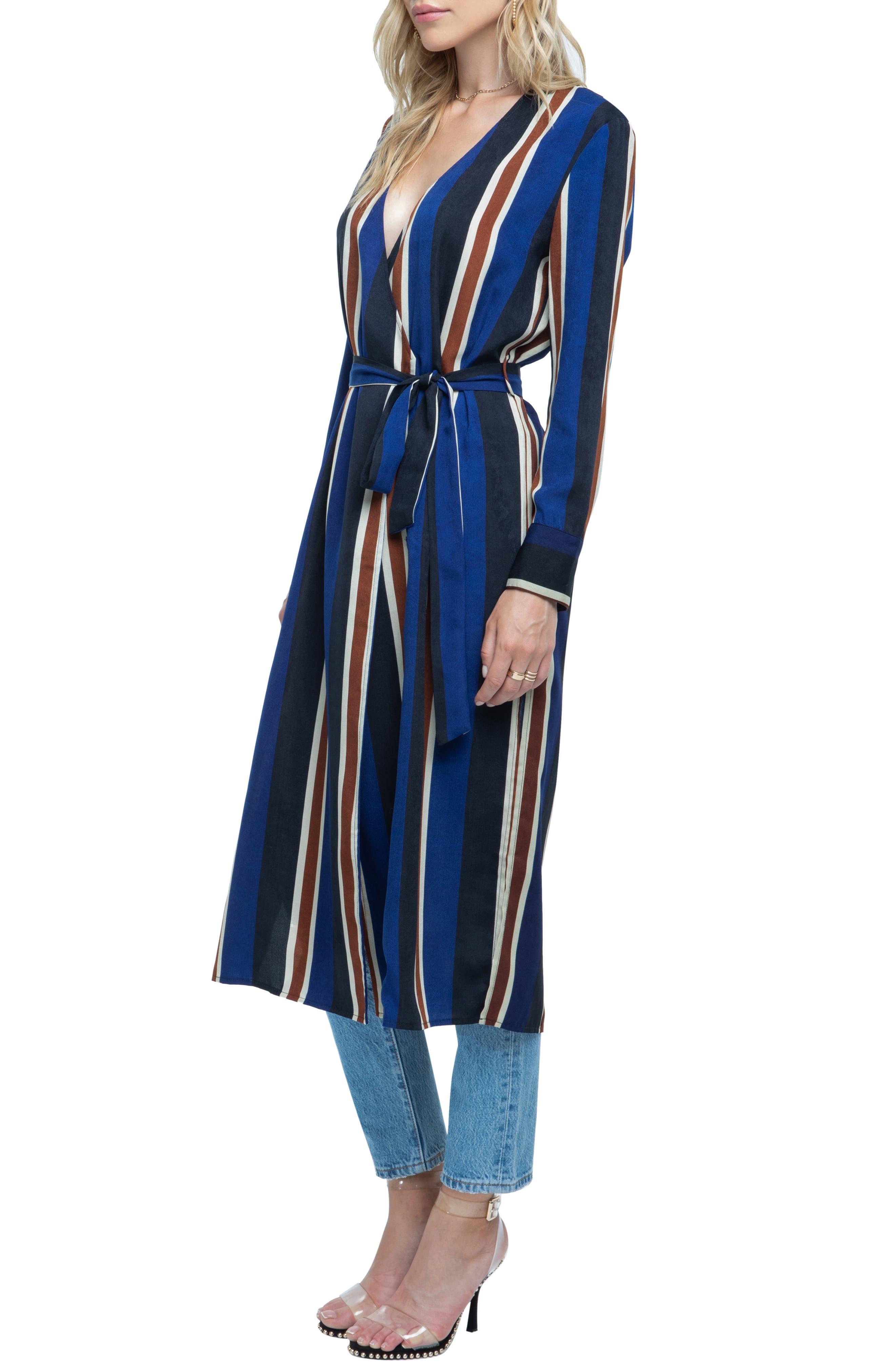 ,                             Stripe Wrap Dress,                             Alternate thumbnail 11, color,                             400