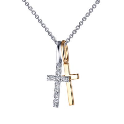 Lafonn Two Cross Pendant Necklace