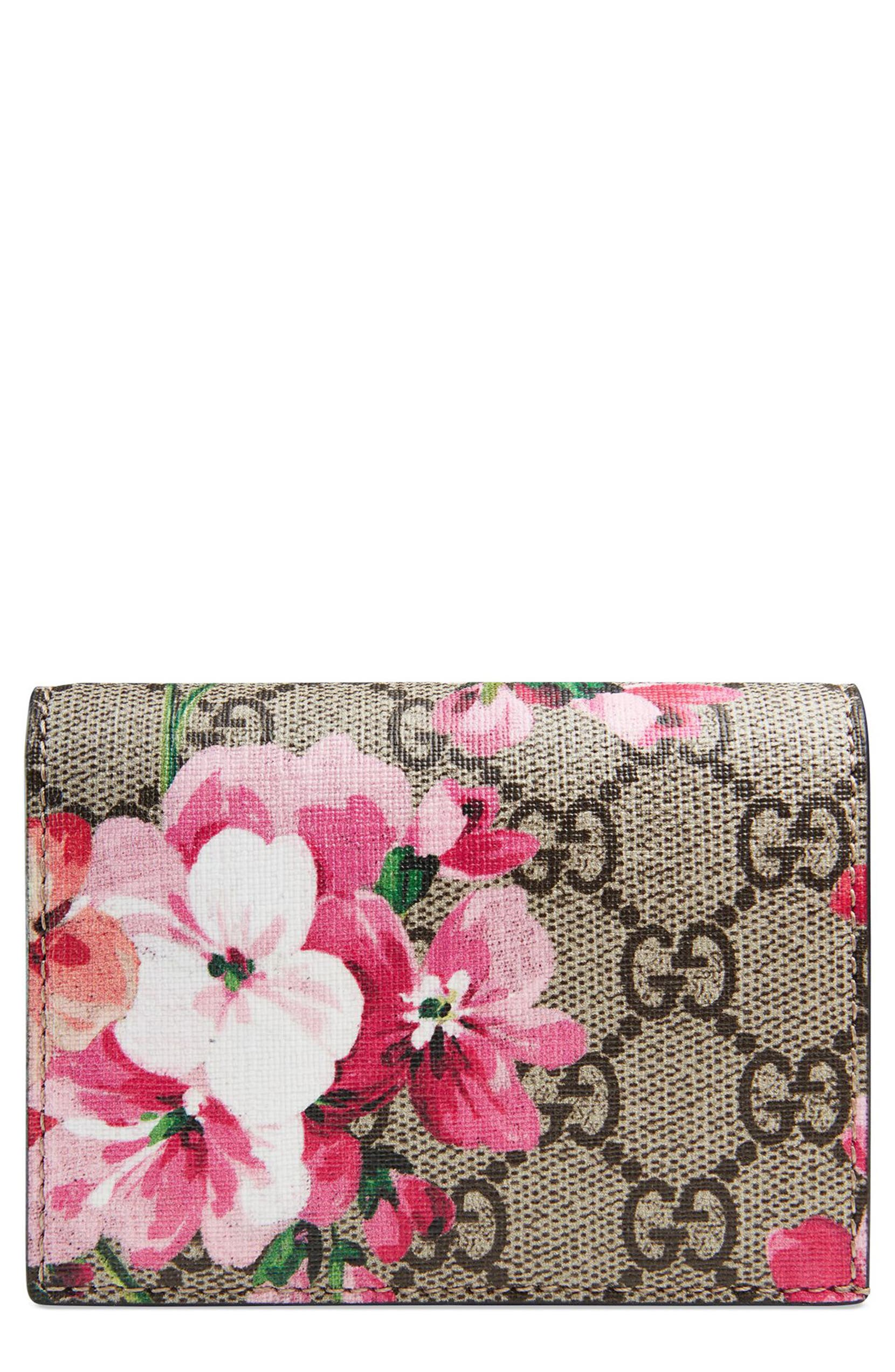4817fc83232943 Gucci GG Blooms Canvas Card Case | Nordstrom