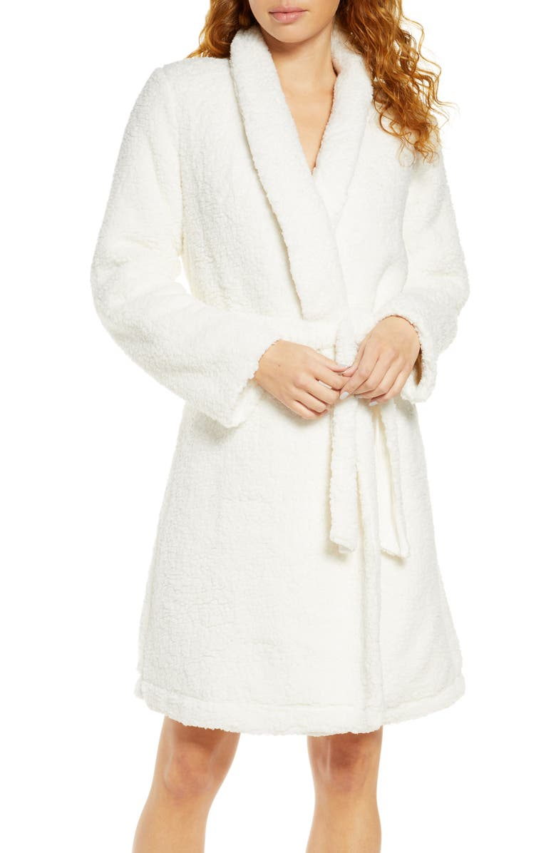 EBERJEY Alpine Chic Faux Shearling Robe, Main, color, IVORY