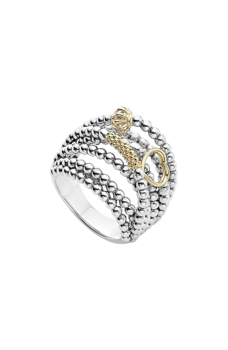 LAGOS 'Caviar Icon' Multi-Row Dome Ring, Main, color, 040