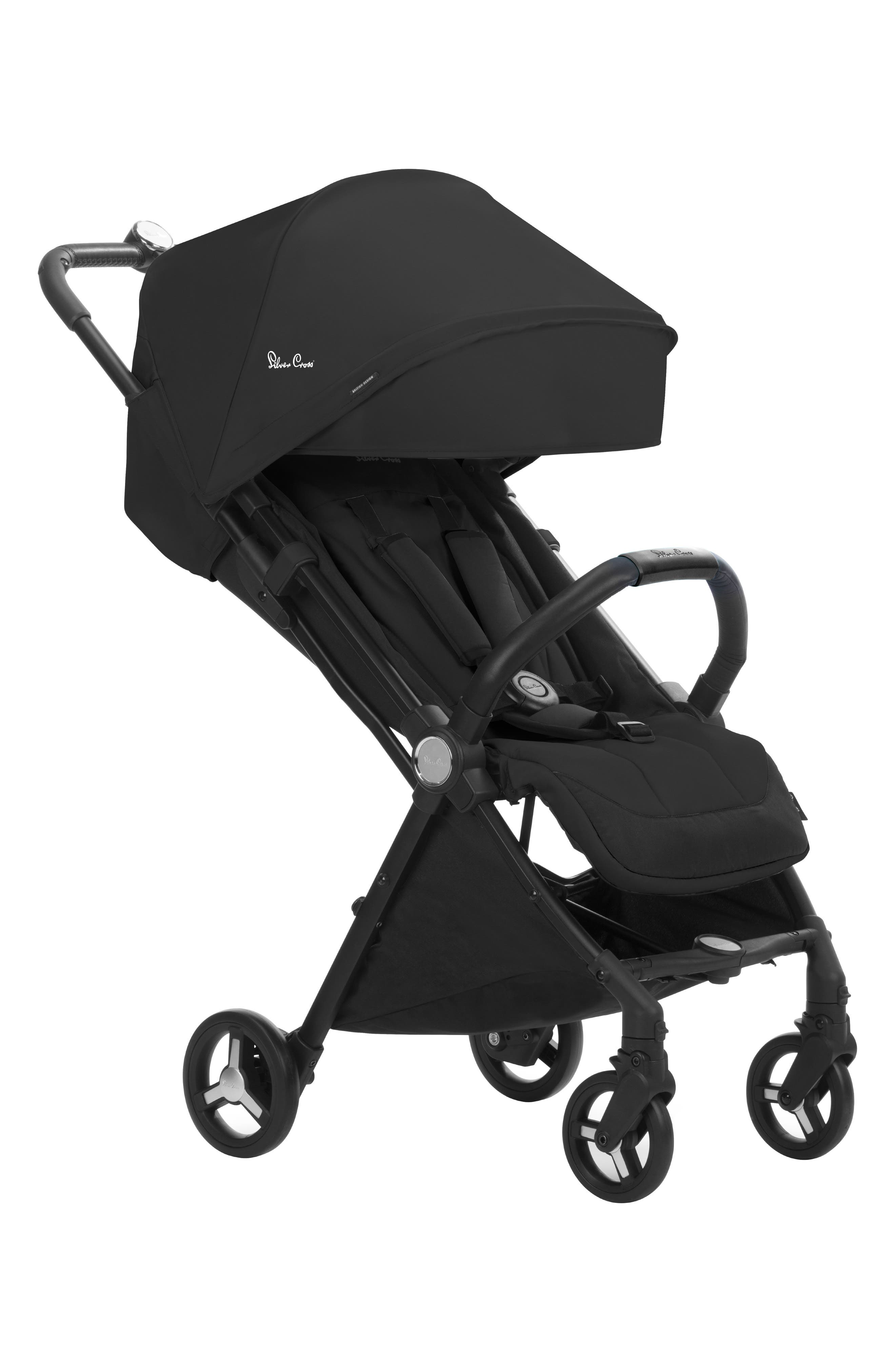 """Open Box Diono Traverze Travel Stroller Black /""""Silver Collection/"""" New Free Ship"""