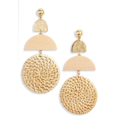 Ettika Raffia Drop Earrings