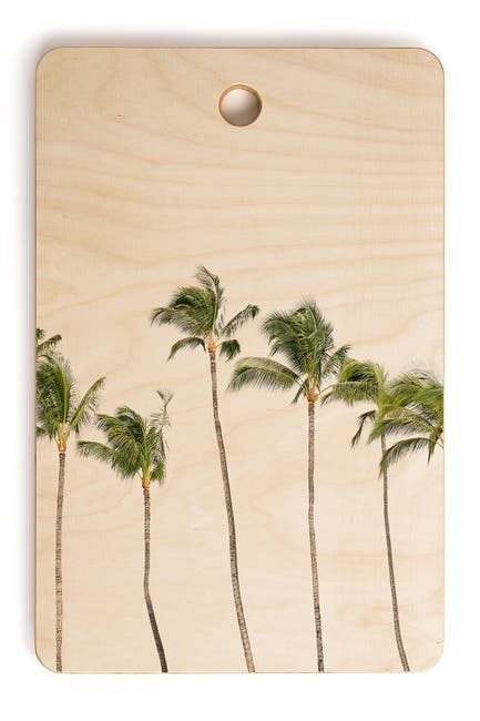 Image of Deny Designs Bree Madden Minimal Palms Rectangle Cutting Board