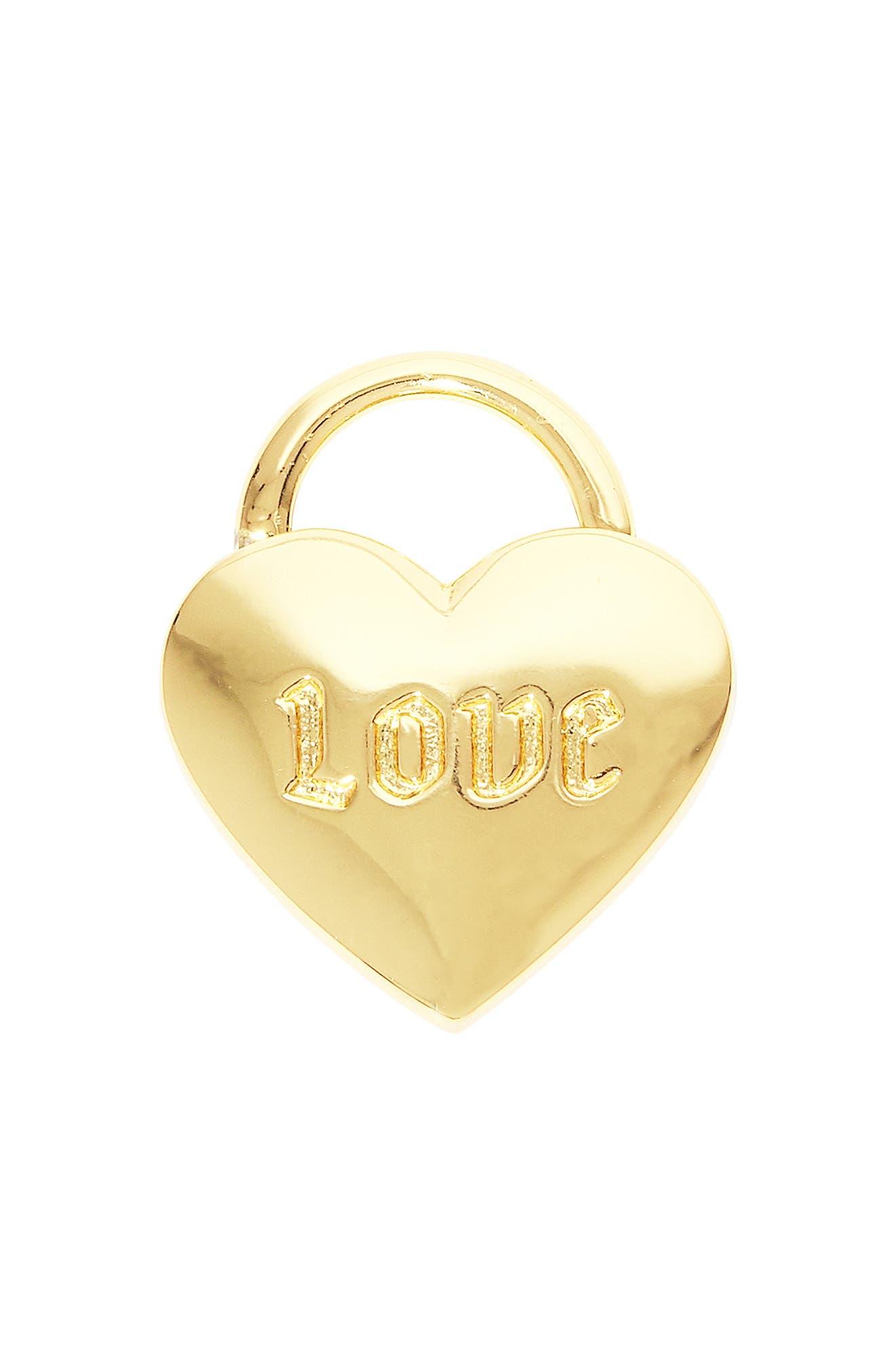 Parker Heart Lock Pendant Charm