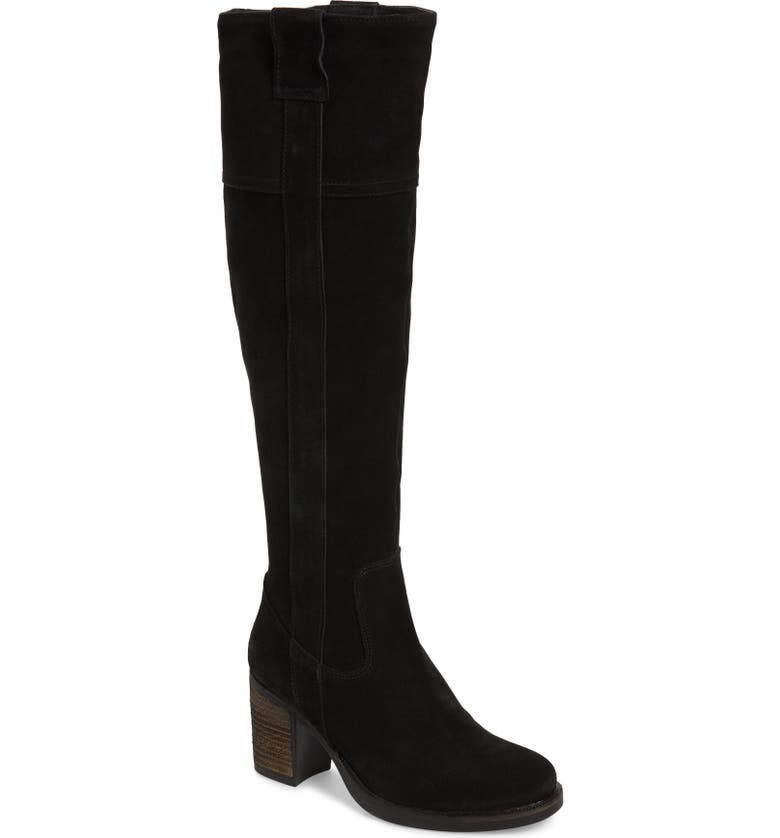 BOS. & CO. Horton Knee High Waterproof Boot, Main, color, BLACK OIL SUEDE