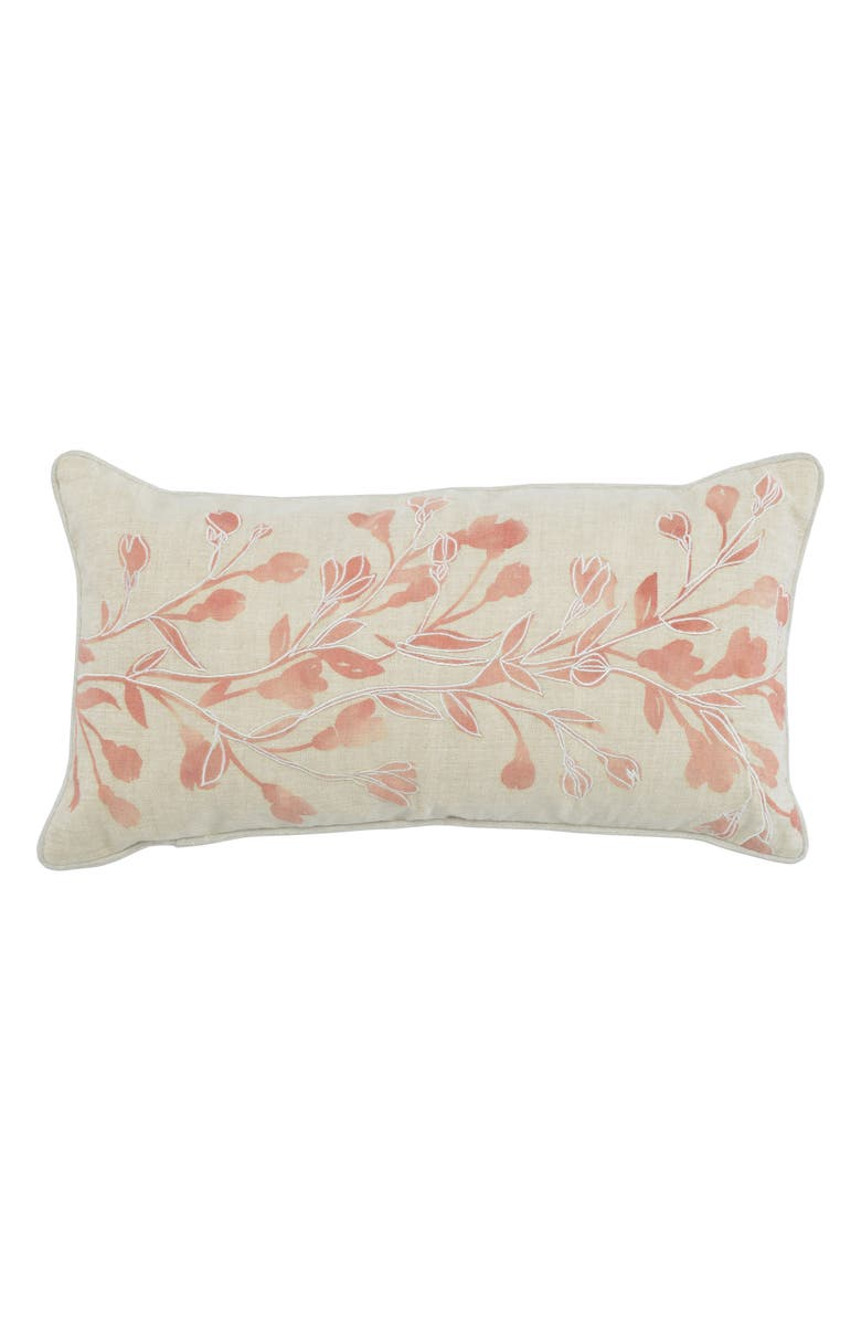 VILLA HOME COLLECTION Bailey Accent Pillow, Main, color, IVORY/ ROSE