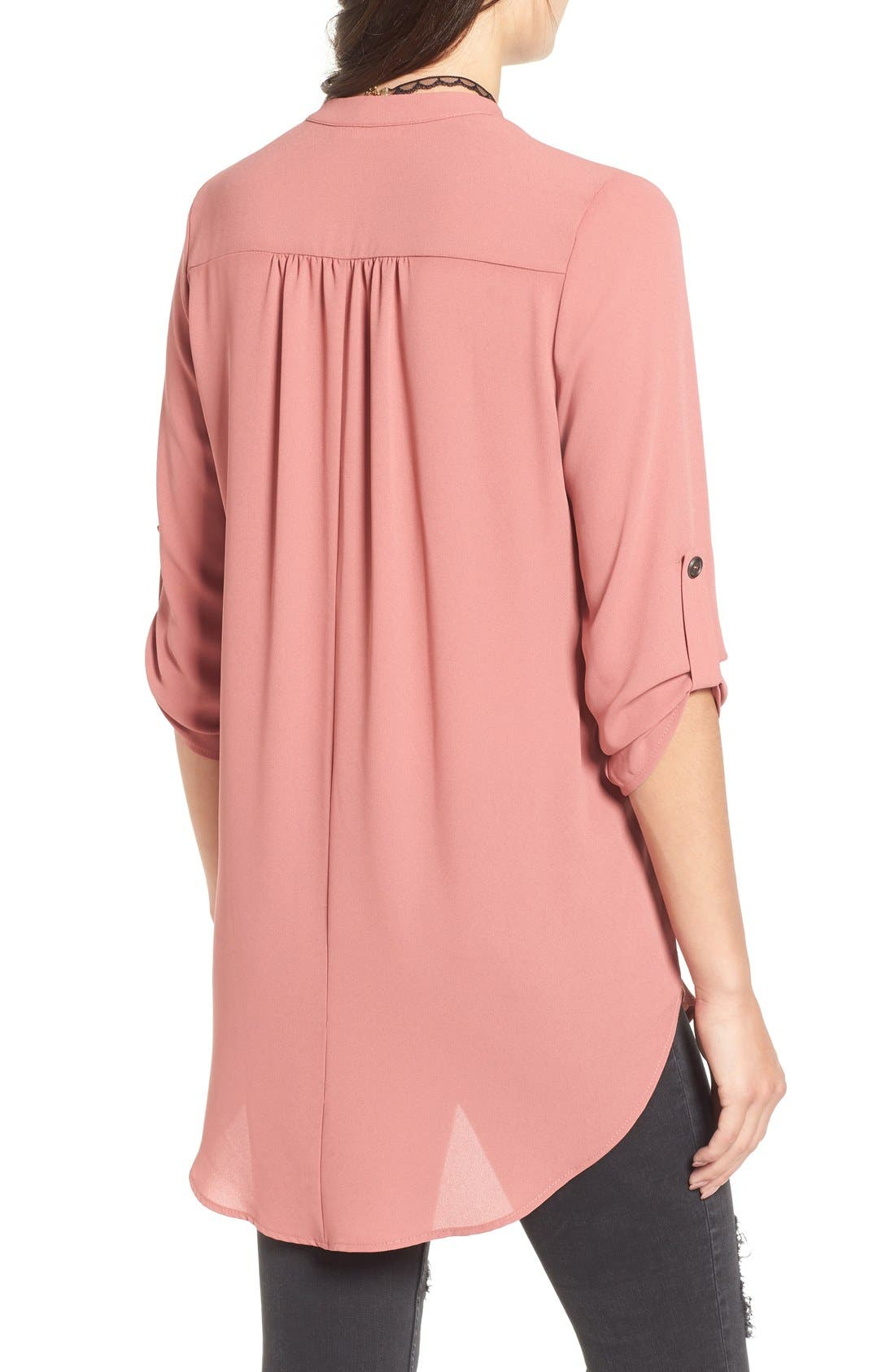 ,                             Perfect Roll Tab Sleeve Tunic,                             Alternate thumbnail 383, color,                             669