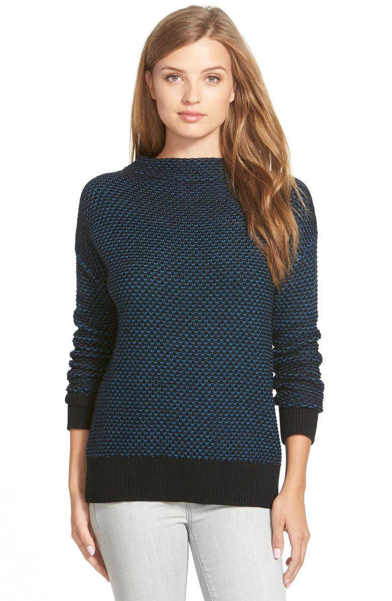 CASLON<SUP>®</SUP> Funnel Neck Sweater, Main, color, 001