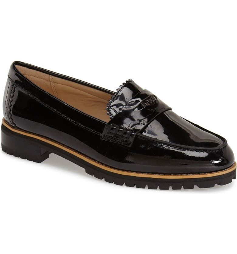 COACH 'Peyton' Loafer, Main, color, BLACK PATENT