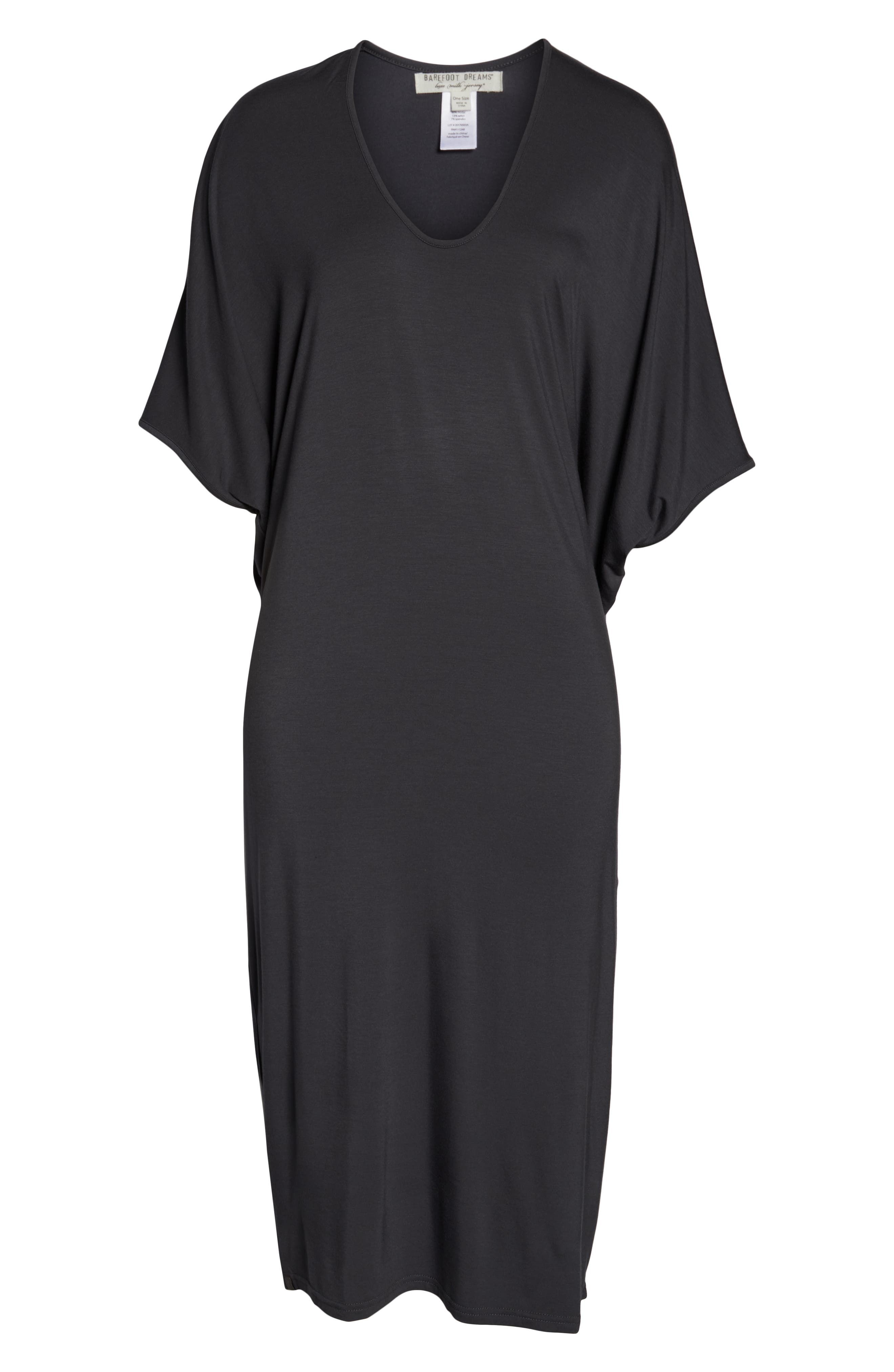 ,                             Luxe Jersey Nightgown,                             Alternate thumbnail 6, color,                             GRAPHITE