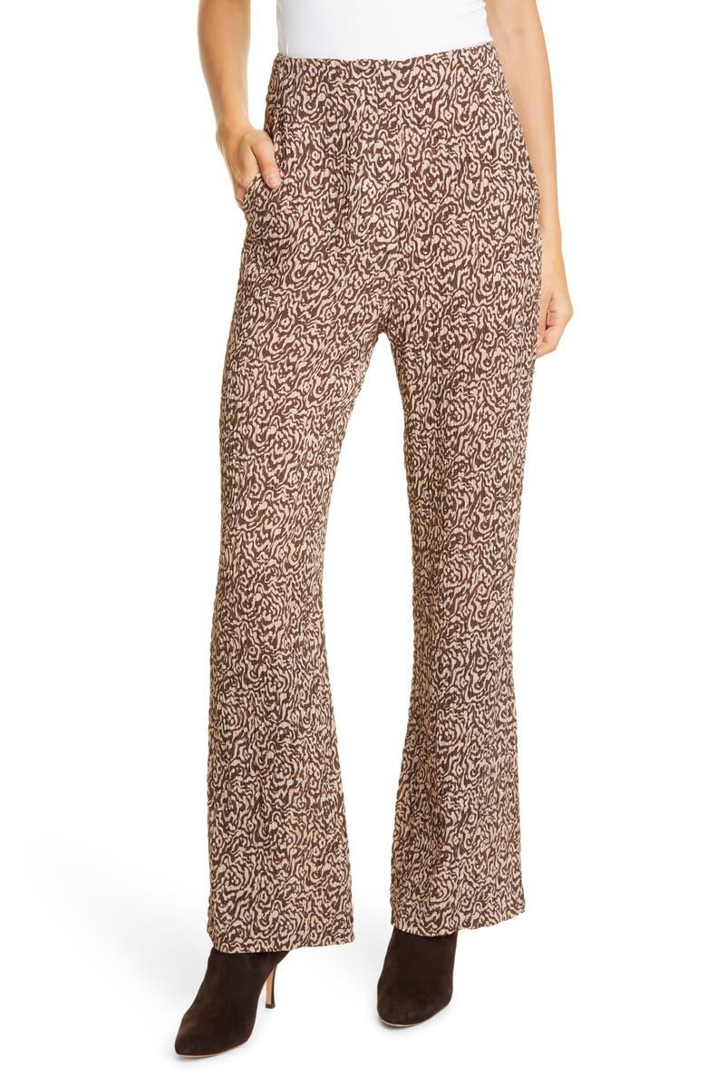 NANUSHKA Kisa Print Pleated Pants, Main, color, GRAPHIC ANIMAL LATTE