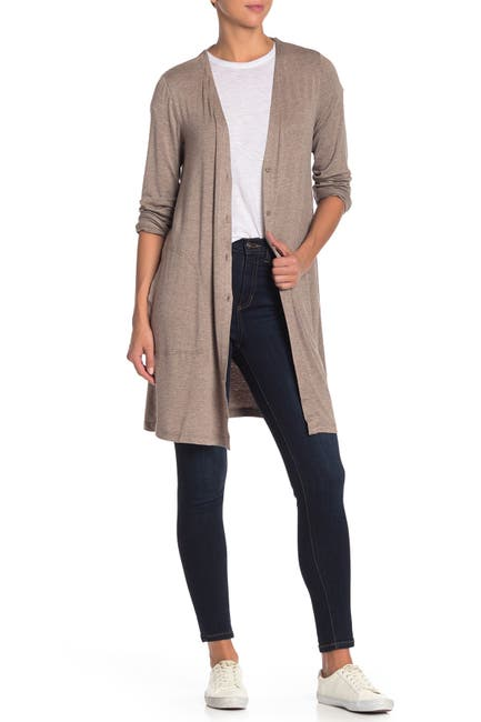 Image of Max Studio Long Travel Cardigan