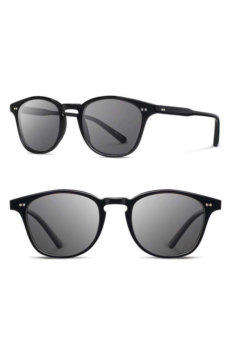 SHWOOD Kennedy 50mm Polarized Sunglasses, Main, color, 001
