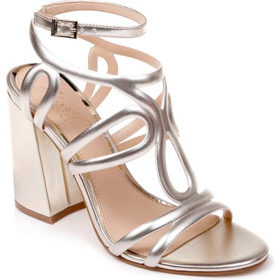 Jewel Badgley Mischka Shari Metallic Strappy Sandal, Metallic