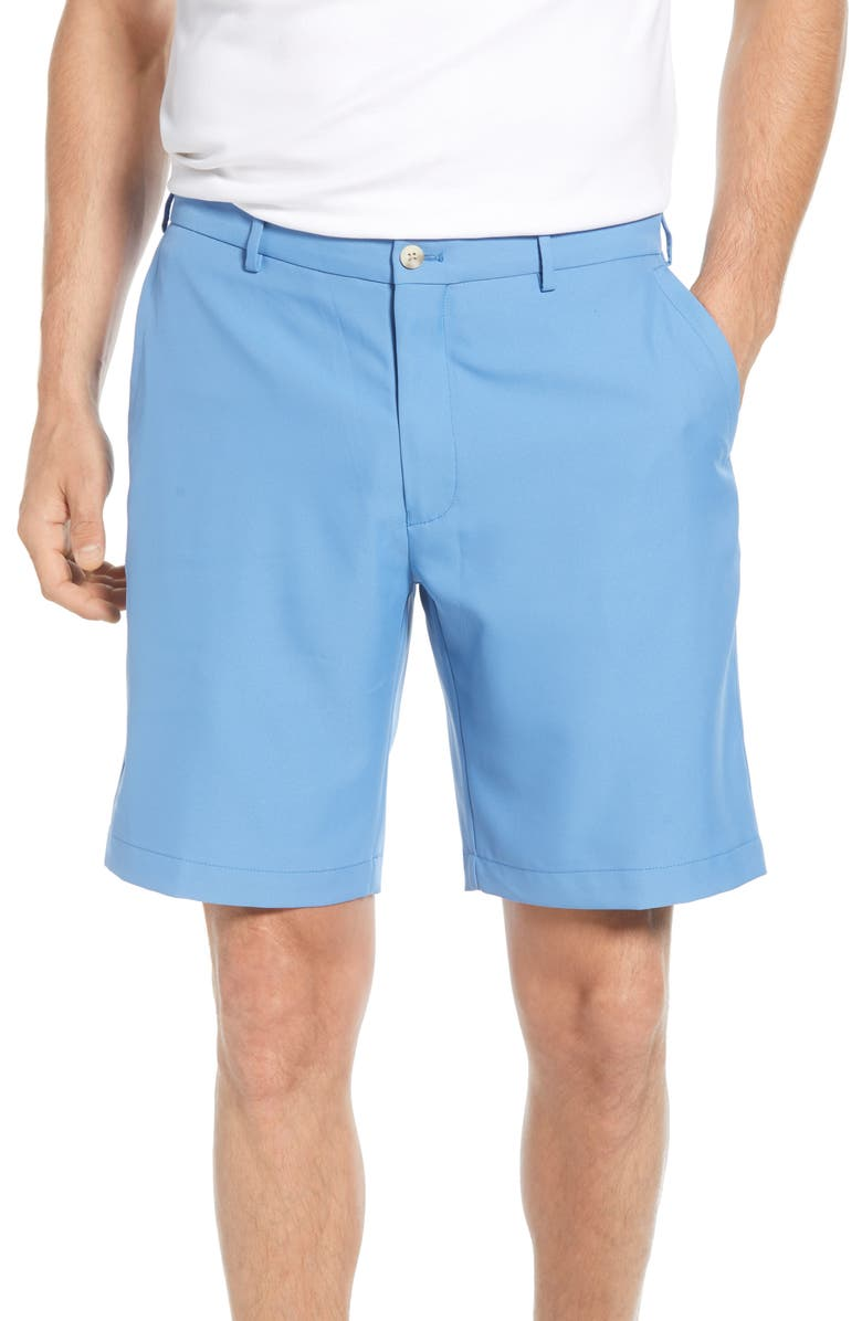 PETER MILLAR Salem High Drape Performance Shorts, Main, color, LAKE BLUE