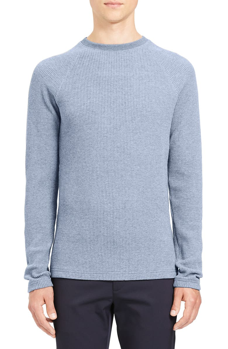 THEORY River Thermal Stitch Long Sleeve T-Shirt, Main, color, FROST